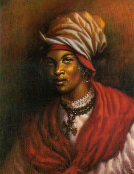Cécile Fatiman,  Mambo whose invocation and possession by Ezili Dantor at Bois Caiman started the Haitian Revolution.