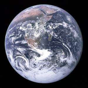 The Blue Marble. Photo of the Earth taken December 7, 1972, by the crew of the Apollo 17.