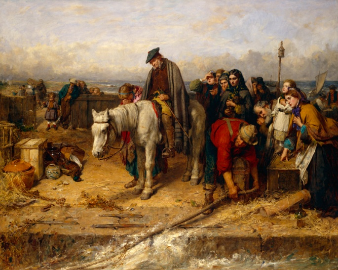 The Highland Clearances, a prime example of Capitalist displacement of peoples. In the 18oo's, Scottish tribal chieftains began expelling people from land in order to 'improve' production. Supported by the English Crown which had already begun the same process, landlords forced people off their ancestral lands to turn land into Capital. The subsequent emigration also caused violence in the lands to which people fled, as indigenous peoples in the Americas and Australia became secondary victims of Scottish Capitalism.