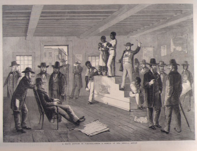 slave auction, Virginia