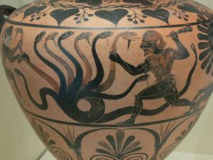 Etruscan pottery depicting the Lernaean Hydra, c. 525 BCE. Credit: Wolfgang Sauber.