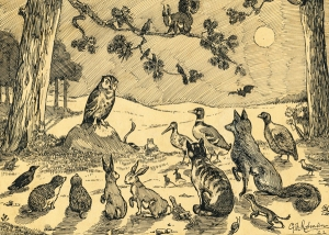 Animal Council, Sketch by G Rotman, 1922
