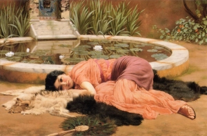 """Dolce Far Niente (1904)"" by John William Godward - Art Renewal Center – description. Licensed under Public Domain via Wikimedia Commons - https://commons.wikimedia.org/wiki/File:John_William_Godward_-_Dolce_Far_Niente_(1904).jpg#/media/File:John_William_Godward_-_Dolce_Far_Niente_(1904).jpg"