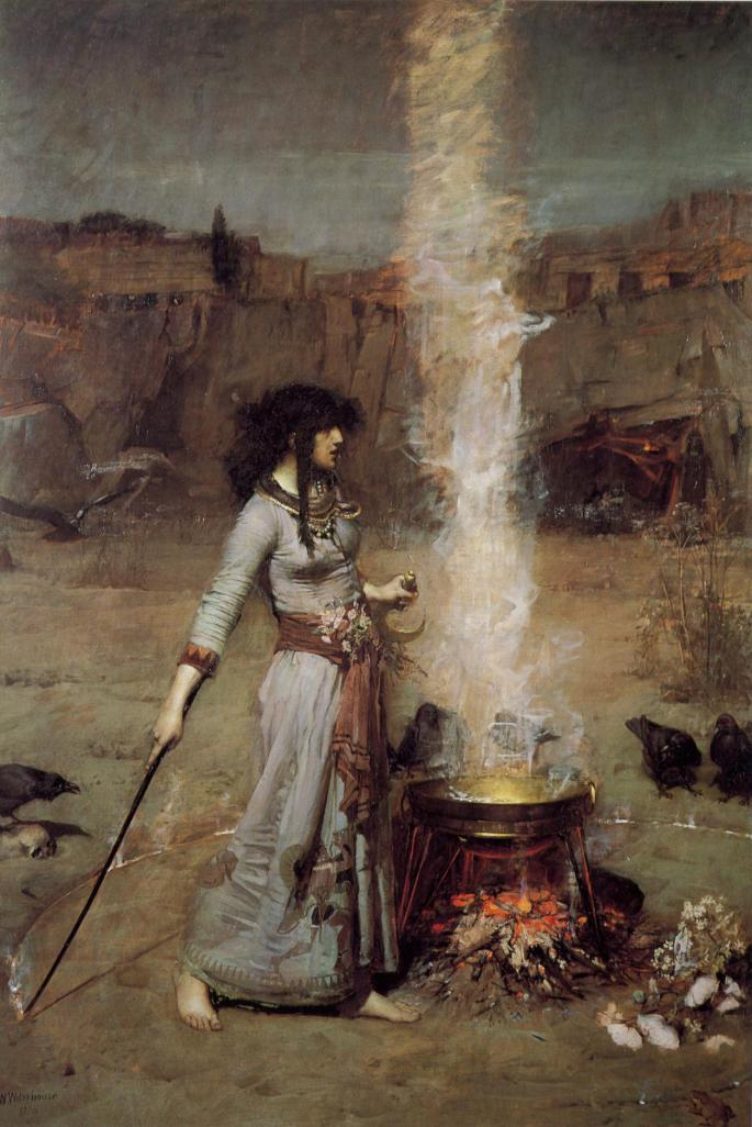 """The Magic Circle""  by John William Waterhouse"