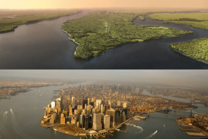 Mannahatta then, Manhattan now
