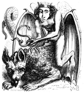 "Image of Astaroth from the 1818 ""Dictionnaire Infernal"""