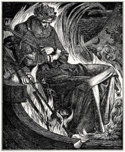 Frederick Sandys (1829-1904), The Death of King Warwulf ~ Originally published in Once a Week, 1862