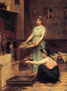 John William Waterhouse (1849-1917), The Household Gods, 1880