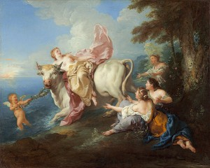 """The Abduction of Europa, Jean-François de Troy"" by Jean François de Troy - National Gallery of Art. Licensed under Public Domain via Commons."