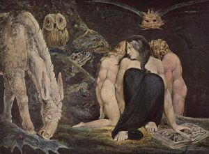 Hekate by William Blake 1795