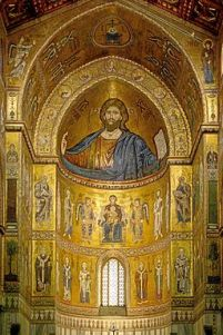Byzantine monumental Church mosaics, Monreale in Sicily from the late 12th century.