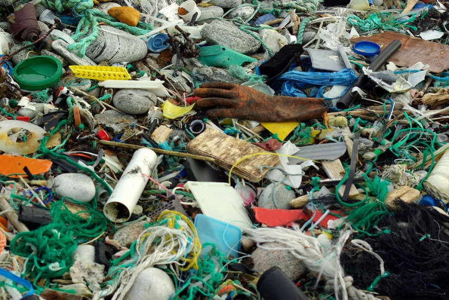 Marine pollution...is all plastic. Source is Bo Eide on Flickr.