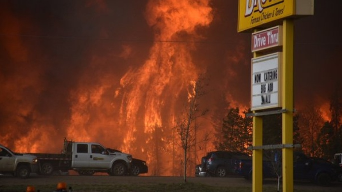 Photos taken during the Fort McMurray wildfires in Alberta during spring 2016.
