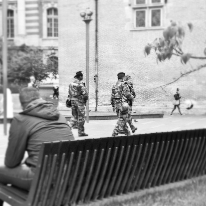 anti-terrorism soldiers, Toulouse, France