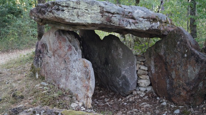 Dolmen near Prayssac, Lot, France