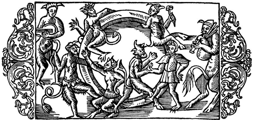 Olaus Magnus Historia om de nordiska folken. Bok 3 - Kapitel 11 - Om nattlig dans af älvor, d.v.s. gastar. - Utgivningsår 1555.