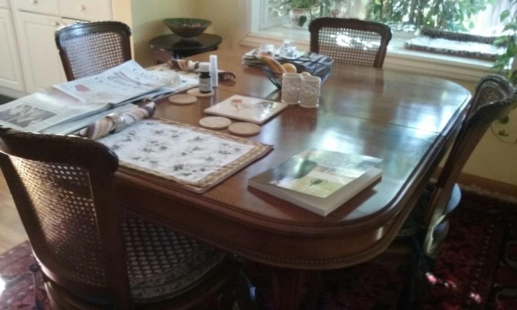 The de Castro dining table - photo by Sabina Magliocco