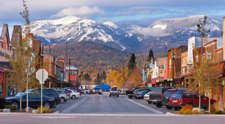 A photo of Whitefish in Montana