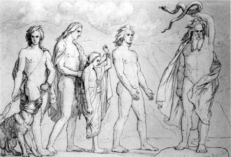 """""""Loki's Children"""" by Lorenz Frolich, 1906"""