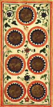 """""""7 of Coins"""" Visconti-Sforza Tarot"""